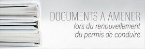 Documents pour le renouvellement du permis de conduire pour la consultation médicale